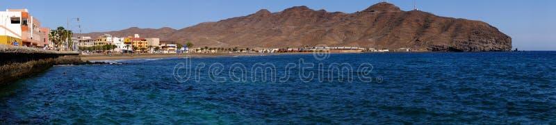 GRAN TARAJAL FUERTEVENTURA 10 DE FEVEREIRO DE 2019 - praia e vila Gran Tarajal em Fuerteventura, Espanha fotos de stock royalty free