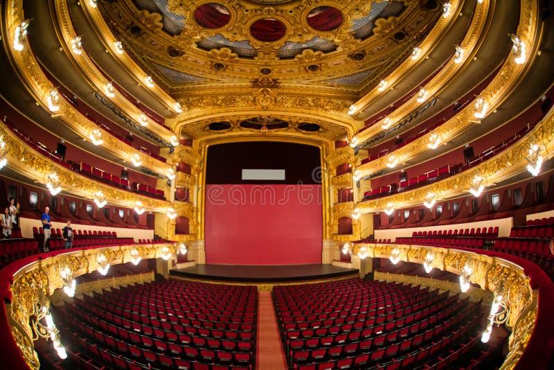 Gran Teatre del Liceu stock foto