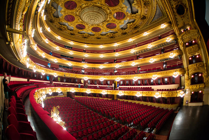 Gran Teatre del Liceu stock afbeeldingen