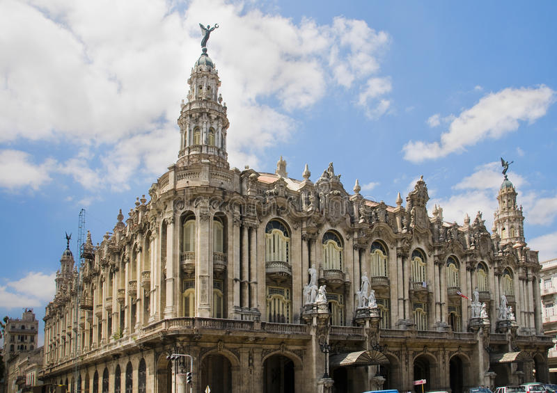 Gran Teatro de La La Havane, Cuba. photographie stock libre de droits