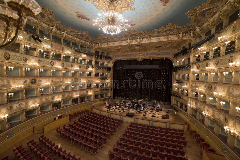 Gran Teatro La Fenice stock photos