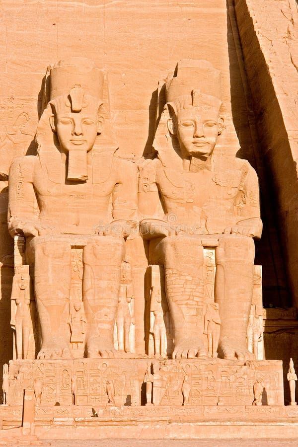 Gran templo de Abu Simbel - Egipto foto de archivo libre de regalías