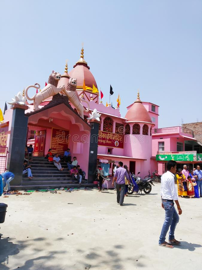 Gran templo indio Chimastika mandir Muzaffarpur Bihar fotos de archivo libres de regalías