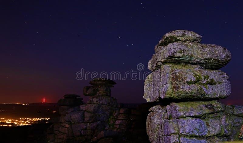 Gran Tor de la grapa de Dartmoor imagen de archivo libre de regalías
