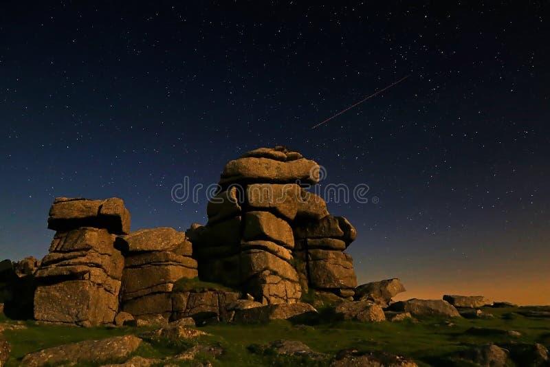 Gran Tor de la grapa de Dartmoor fotos de archivo libres de regalías