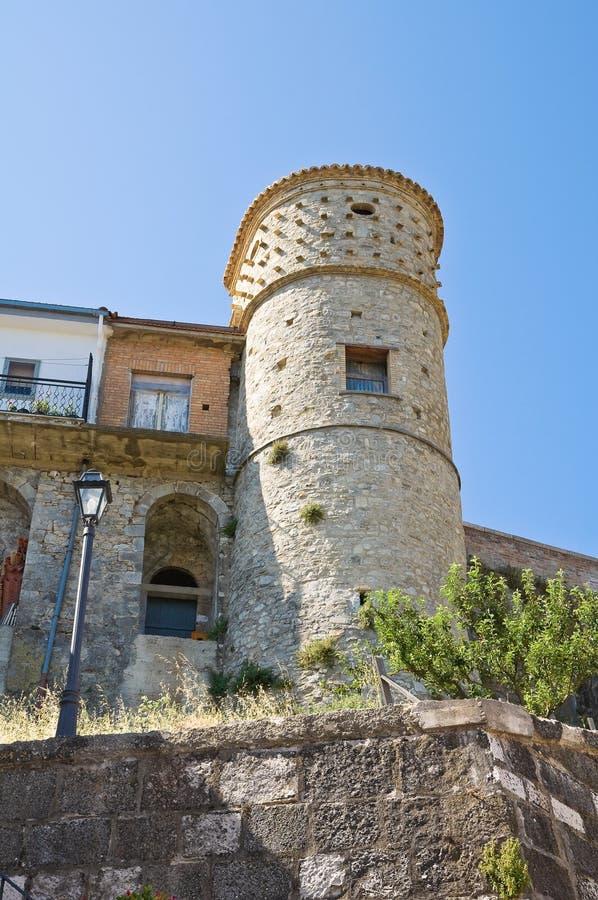Gran torre anterior. Alberona. Puglia. Italia. fotografía de archivo