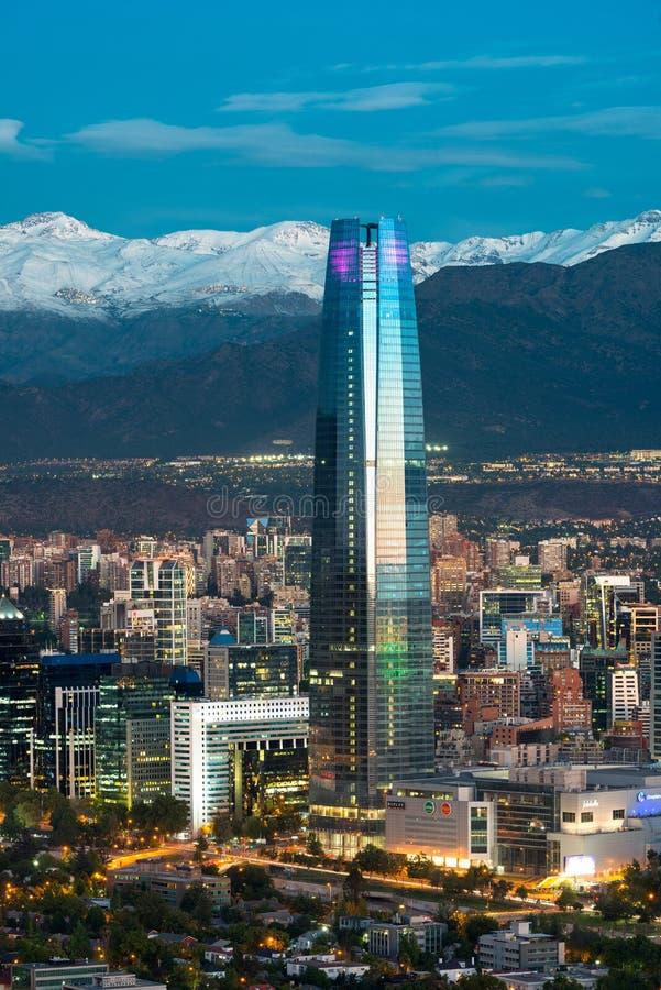 Gran Torre Santiago royalty-vrije stock foto's
