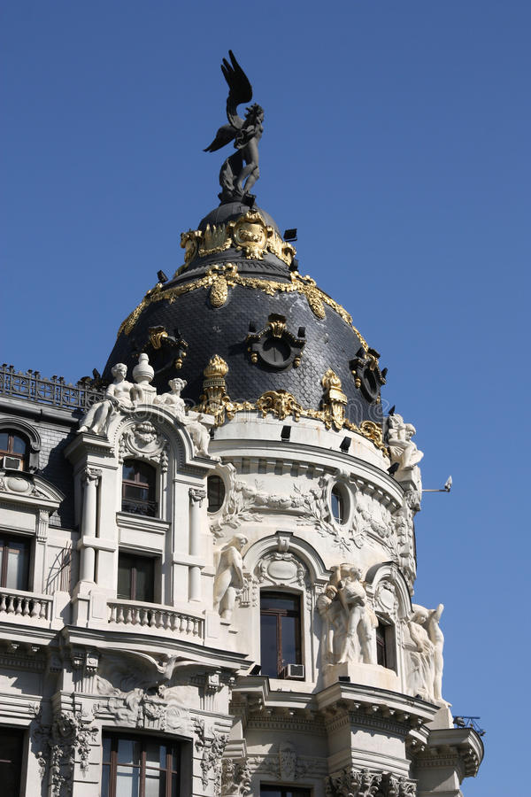 Download Gran Via stock photo. Image of house, spanish, dome, apartment - 13545286