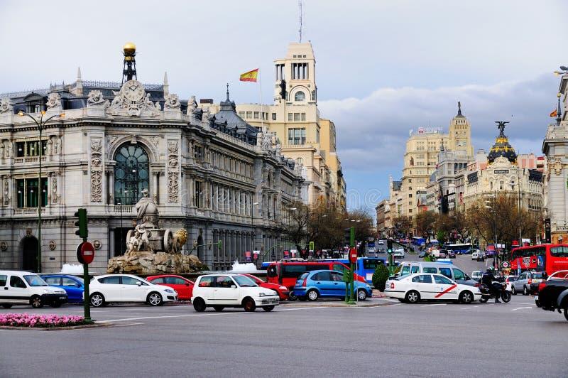Gran Via, Madrid stock photography