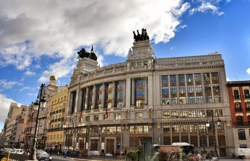 Gran via, Madrid fotografie stock