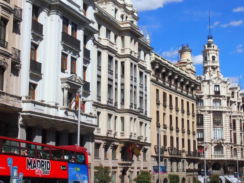 Gran via, Madrid, Spagna fotografie stock