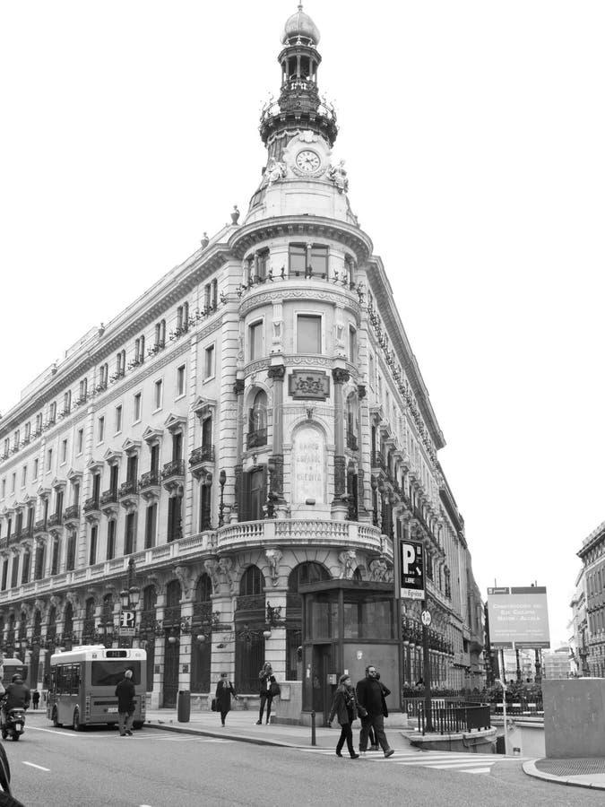 Gran Via of Madrid. Spain stock photos