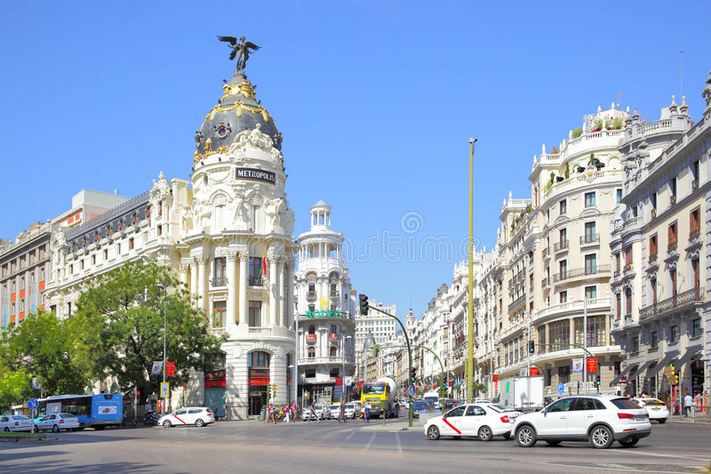 Gran Via in Madrid royalty free stock images