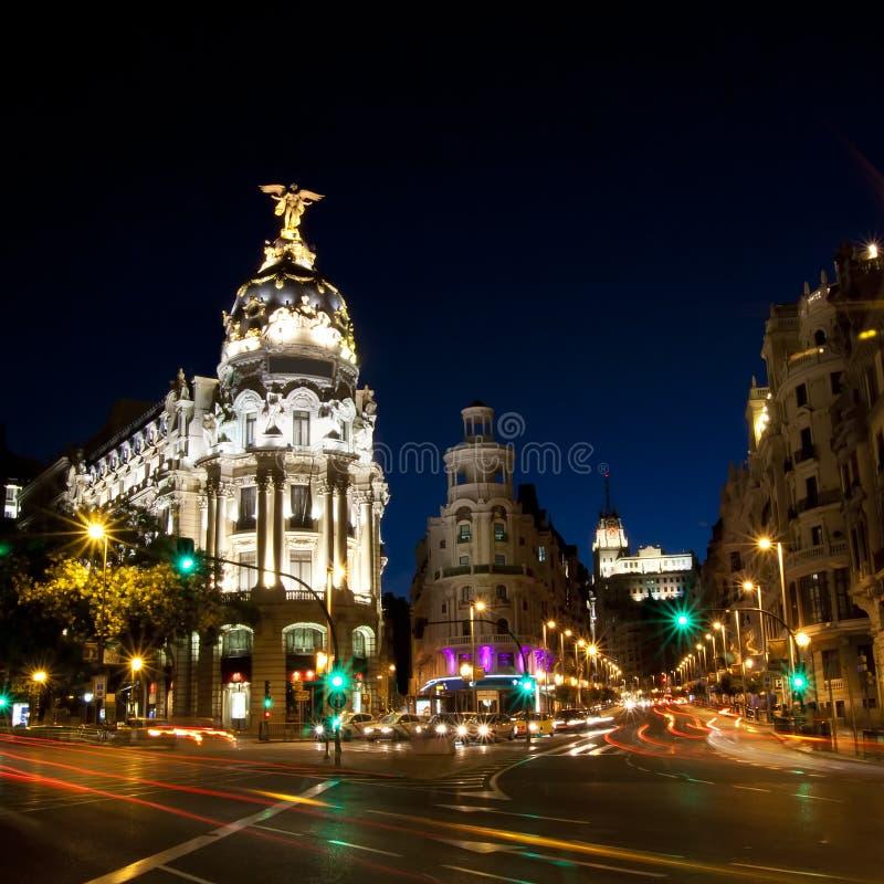 Free Gran Via Street In Madrid, Spain Royalty Free Stock Photography - 21156267