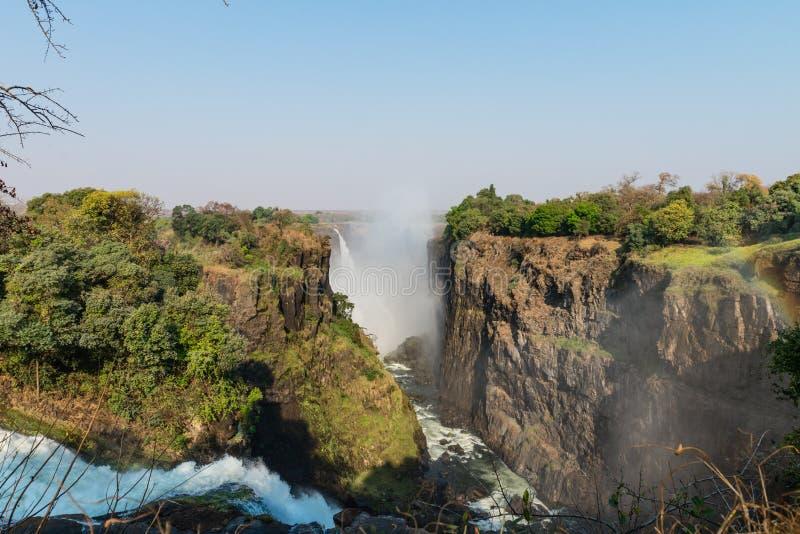 Gran Victoria Falls Zimbabwe imagen de archivo