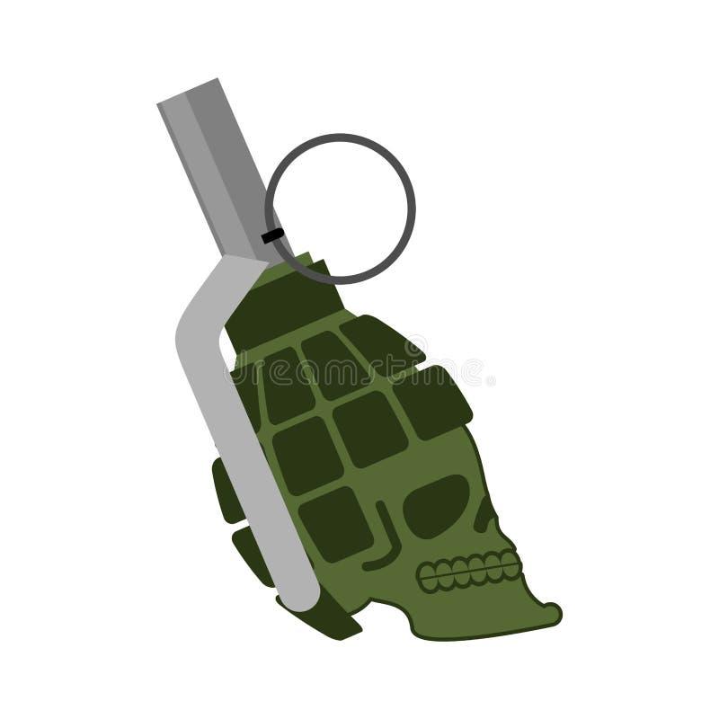Granaatschedel Hoofdskelet militaire munitie legerbom skul royalty-vrije illustratie