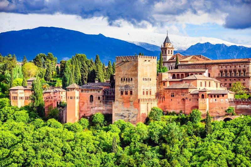 Granada - Alhambra, Andalusia, Spanje stock foto's