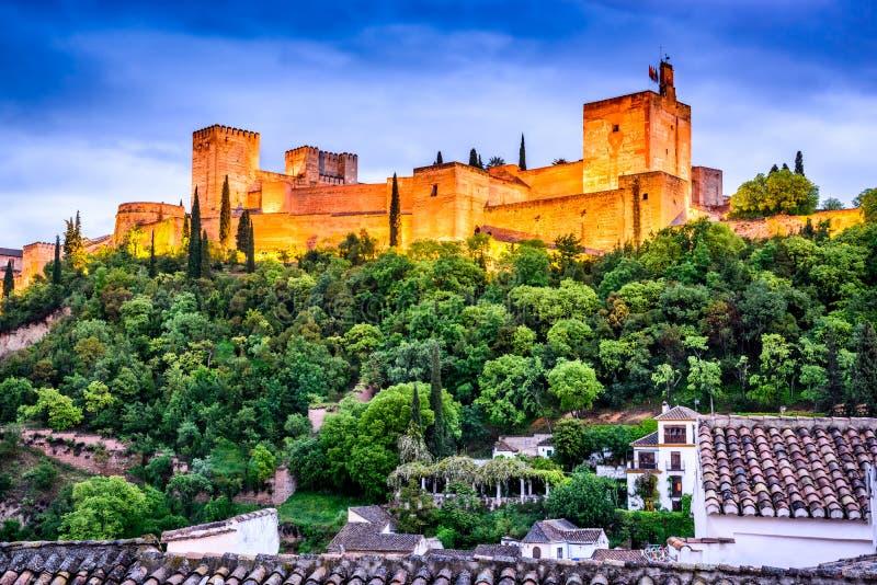 Granada - Alhambra, Andalusia, Spanje stock afbeeldingen
