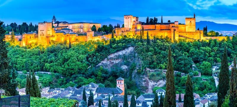 Granada - Alhambra, Andalusia, Spanje royalty-vrije stock afbeeldingen