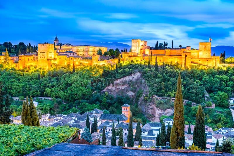 Granada - Alhambra, Andalusia, Spanje royalty-vrije stock afbeelding