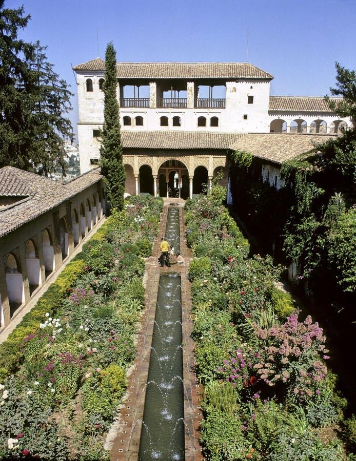 Granada Alhambra garden royalty free stock images