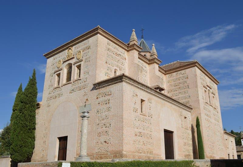 Granada - Alhambra Palace - st Mary Church fotografia stock