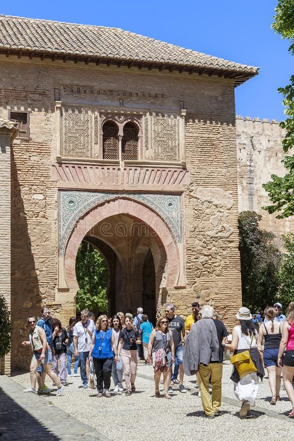 Granada, Alhambra: Wine Gate royalty free stock photography