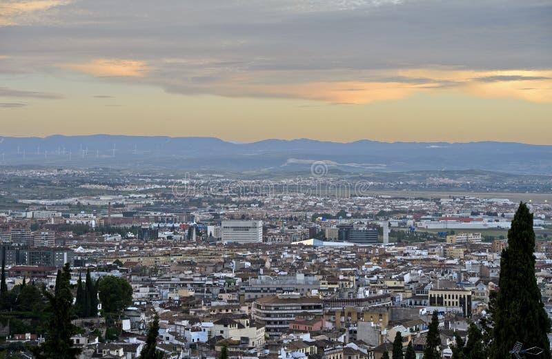 Granada in Andalusia stock afbeelding