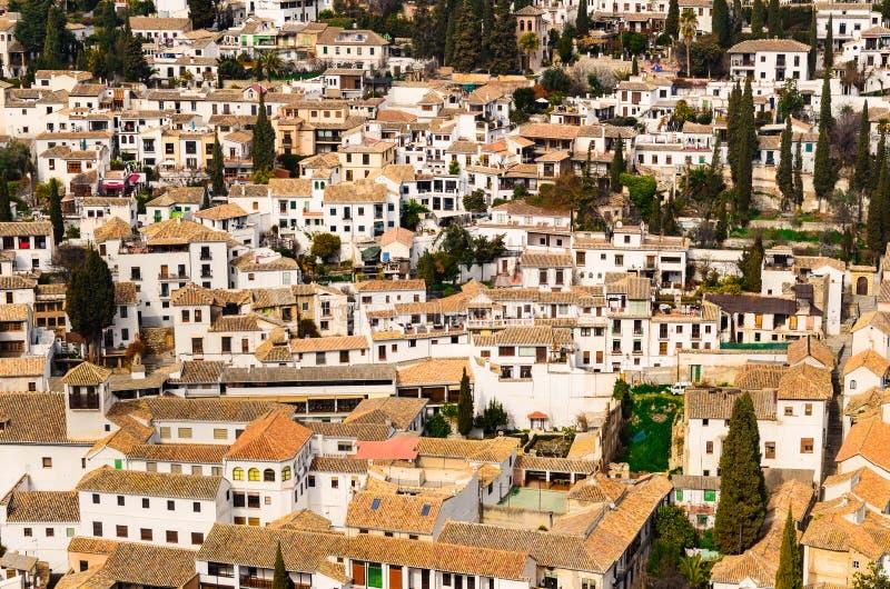 Granada-Ansicht Andalusien, Espana stockfoto
