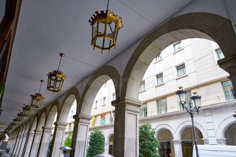 Granada arkady w anioła Ganivet ulicie obraz stock