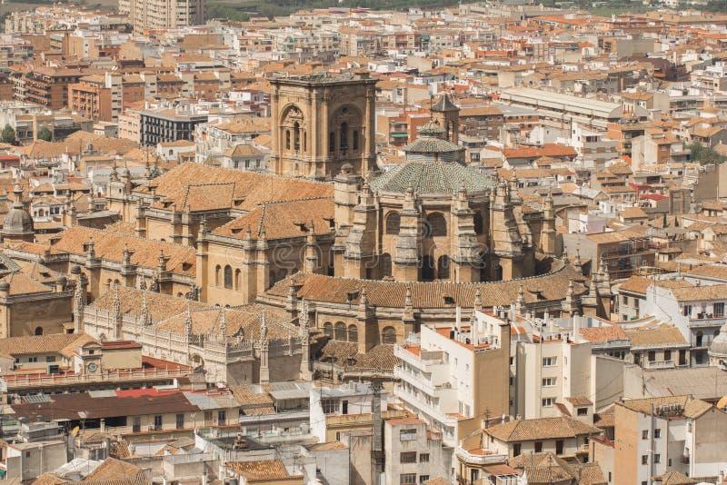 Granada bästa sikt arkivfoton