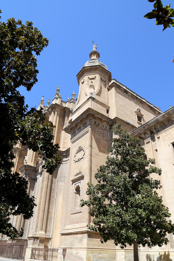 Granada Cathedral (Cathedral of the Incarnation) in gothic and spanish renaissance style royalty free stock photography