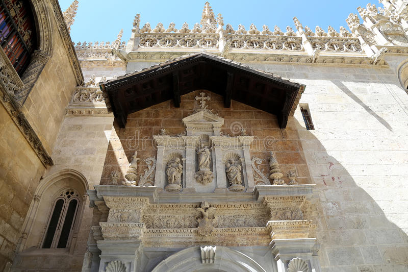 Granada Cathedral (Cathedral of the Incarnation) in gothic and spanish renaissance style royalty free stock photos