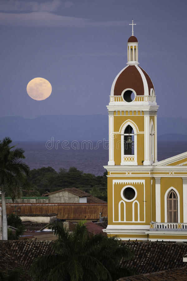 Granada Cathedral, Granada, Nicaragua stock photography