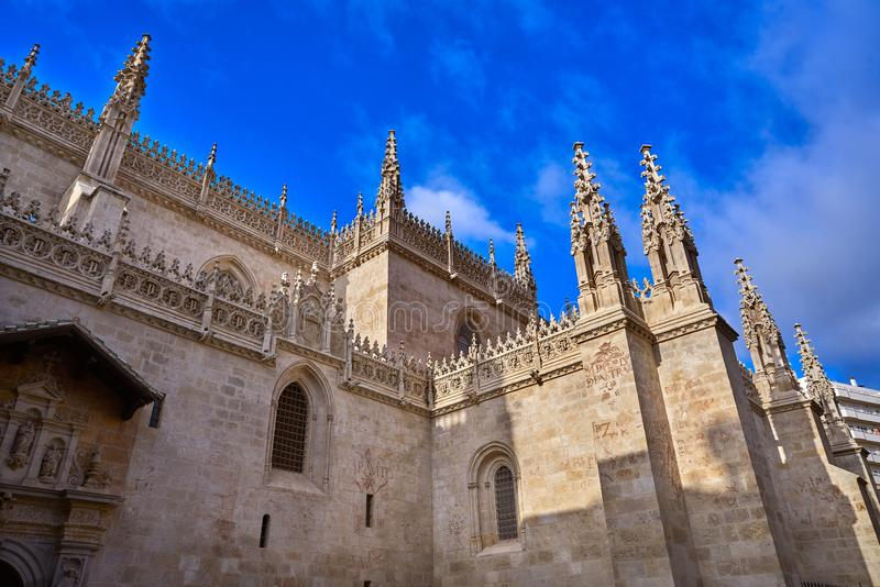 Granada Cathedral Royal Capilla in Spain. Granada Cathedral Royal Capilla area in Spain at Andalusia royalty free stock image