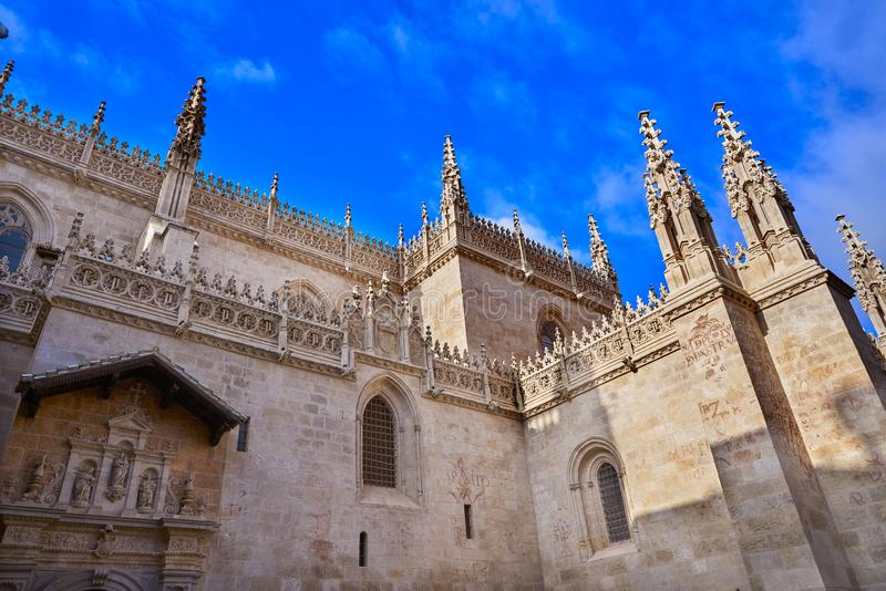 Granada Cathedral Royal Capilla in Spain. Granada Cathedral Royal Capilla area in Spain at Andalusia stock images