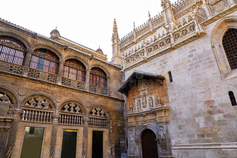 Granada Cathedral Royal Capilla in Spain. Granada Cathedral Royal Capilla area in Spain at Andalusia royalty free stock photos