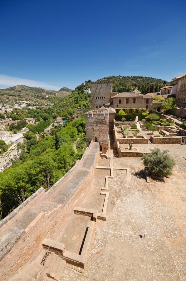 Granada cityscape viewed from La Alahambra palace. Granada cityscape viewed from La Alahambra palace royalty free stock photography