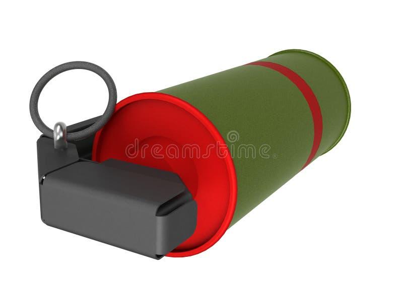 Granada de mano roja del humo stock de ilustración