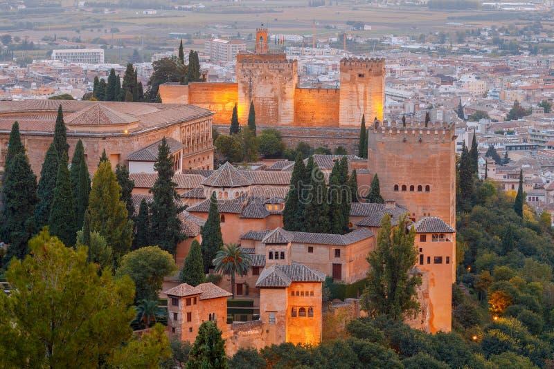 granada Der Festungs- und Palastkomplex Alhambra lizenzfreie stockfotos