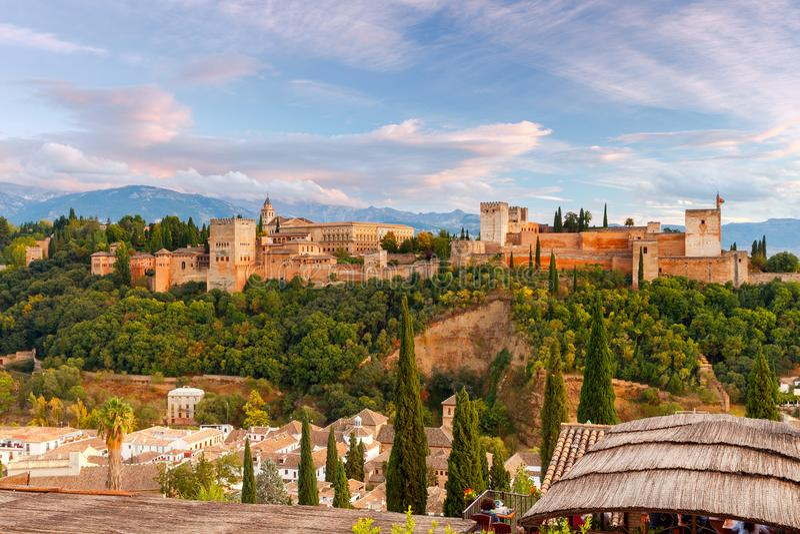 granada Der Festungs- und Palastkomplex Alhambra stockfoto