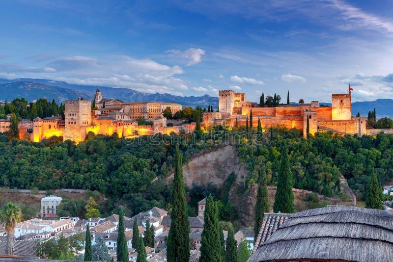 granada Der Festungs- und Palastkomplex Alhambra lizenzfreies stockbild
