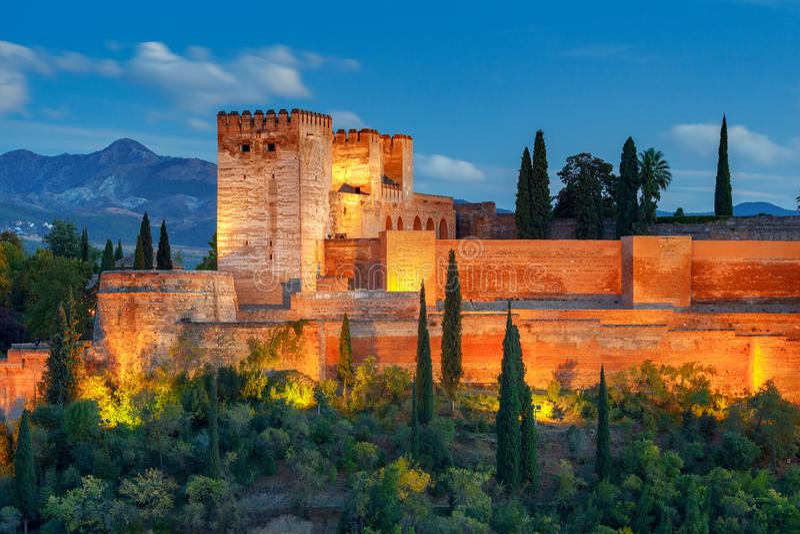 granada Der Festungs- und Palastkomplex Alhambra stockbilder