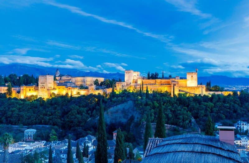 granada Der Festungs- und Palastkomplex Alhambra lizenzfreies stockfoto