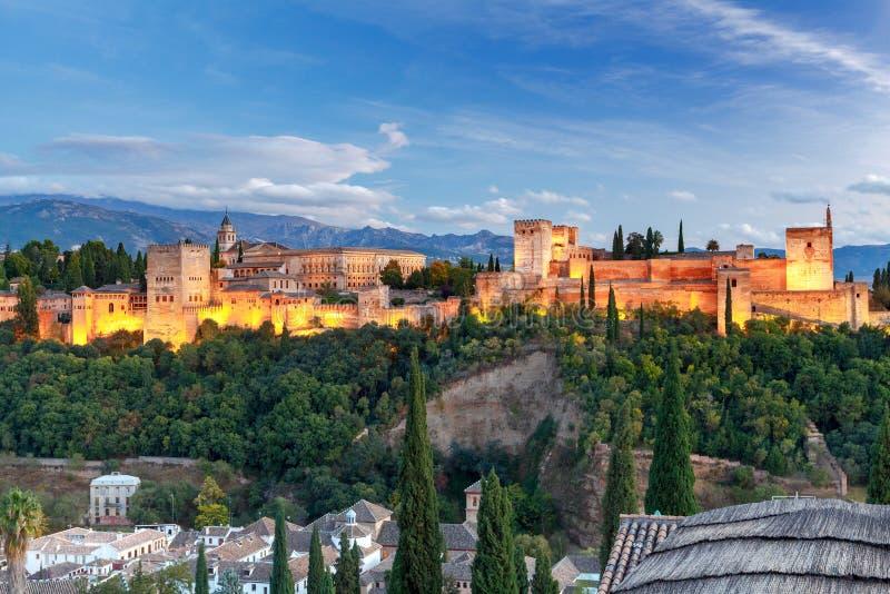 granada Der Festungs- und Palastkomplex Alhambra stockbild