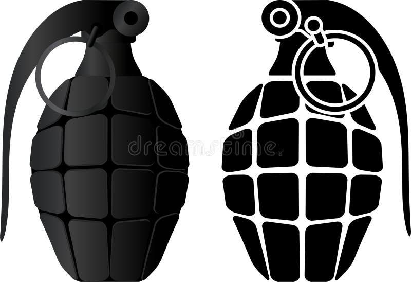 Granada e estêncil da granada ilustração do vetor