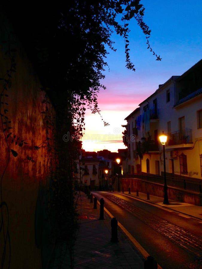 Granada gator arkivbilder