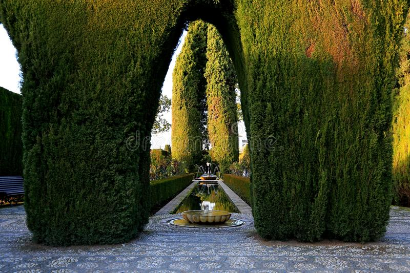Granada. Generalife stock image