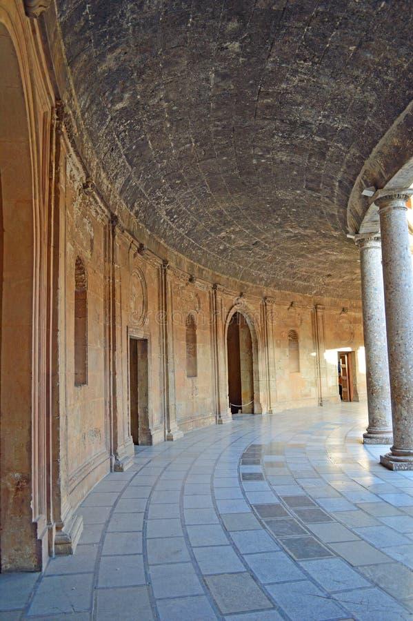 Granada - het Paleis van Charles V - Alhambra, Granada, Spanje stock foto