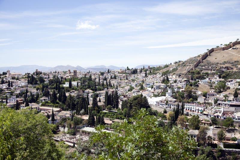 Granada, mooie historische stad in het hart van Andalusia, Spanje stock fotografie